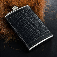 Leather and Stainless Steel Flask with Funnel (Variety of Styles & Sizes Available) 3