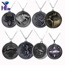 Game Of Thrones Solid Metal Pendant (necklace included)