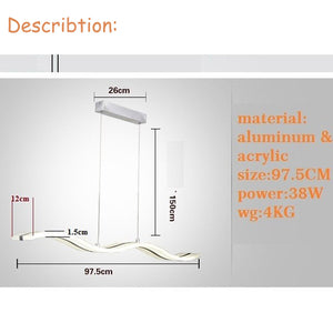 Artistic Modern Acrylic Ceiling Lights with Remote (Adjusts Color and Brightness) 2