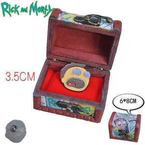 New Rick and Morty Collector Pins BUY-1-GET-2-FREE! (Wooden and Paper Boxes Sold Separately)