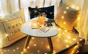Modern Low-Energy Copper-Flex String Lights (3 Colors, 3 Sizes, Battery or USB Powered)