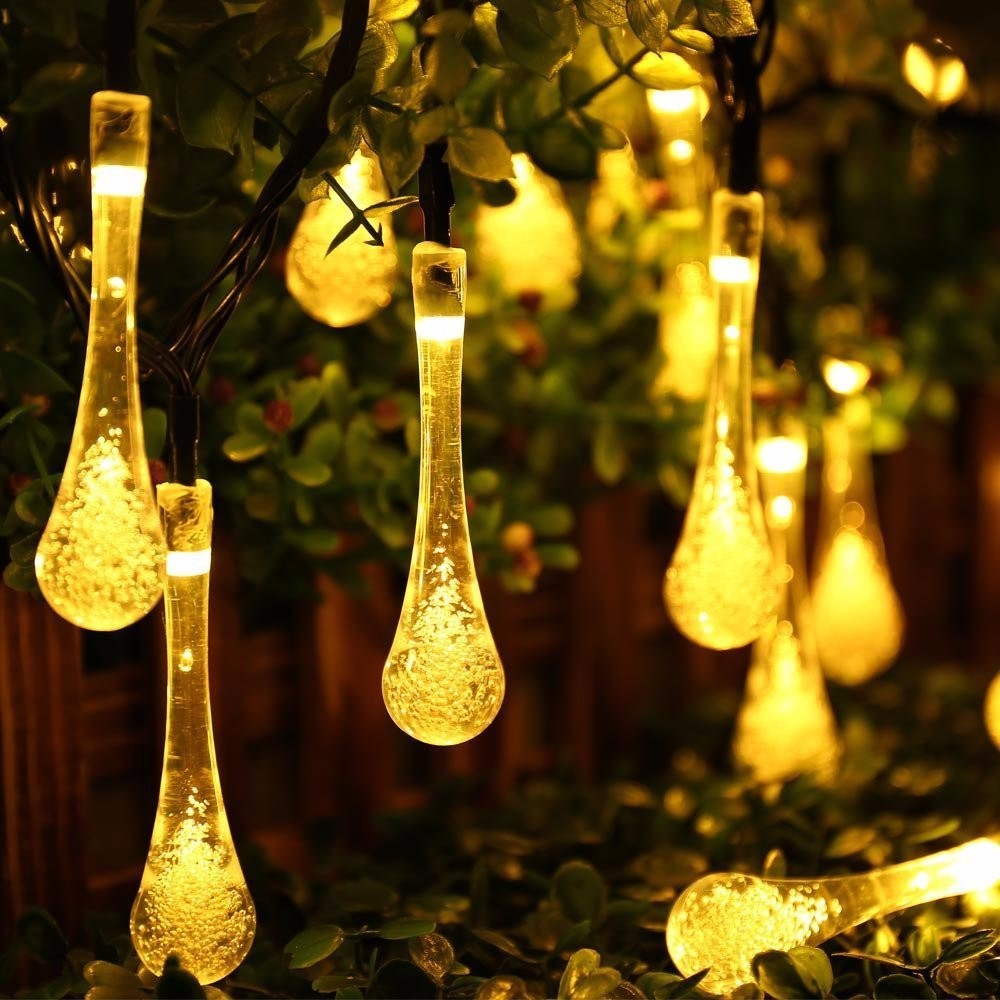 30x Easy to Setup LED Waterproof Solar Powered Water Drop Fairy ...