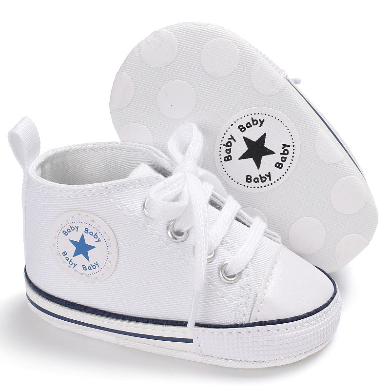 41913f83693d ... New Canvas Converse Baby Sneaker Sport Shoes For Girls Boys Newborn  First Walkers Infant Toddler Soft ...