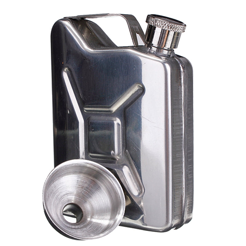5oz Stainless Steel Gas Tank Flask with Funnel 1