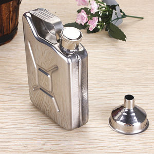 5oz Stainless Steel Gas Tank Flask with Funnel 6