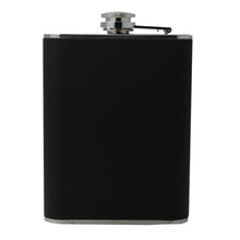 Leather and Stainless Steel Cigarette Case Flask with Funnel (Black/Silver, 5oz/6oz) 6