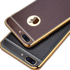 Leather Plating iPhone Phone Cases (4 colors)