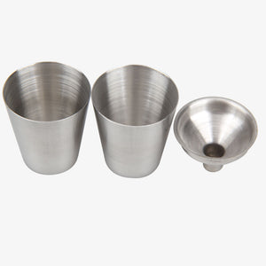 7oz Stainless Steel Flask & Funnel Set (with 2 Complimentary Shot Glasses) 5