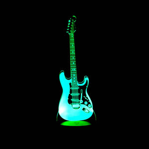 3D Color-Changing LED Lamp w/ Remote - Electric & Acoustic Guitars