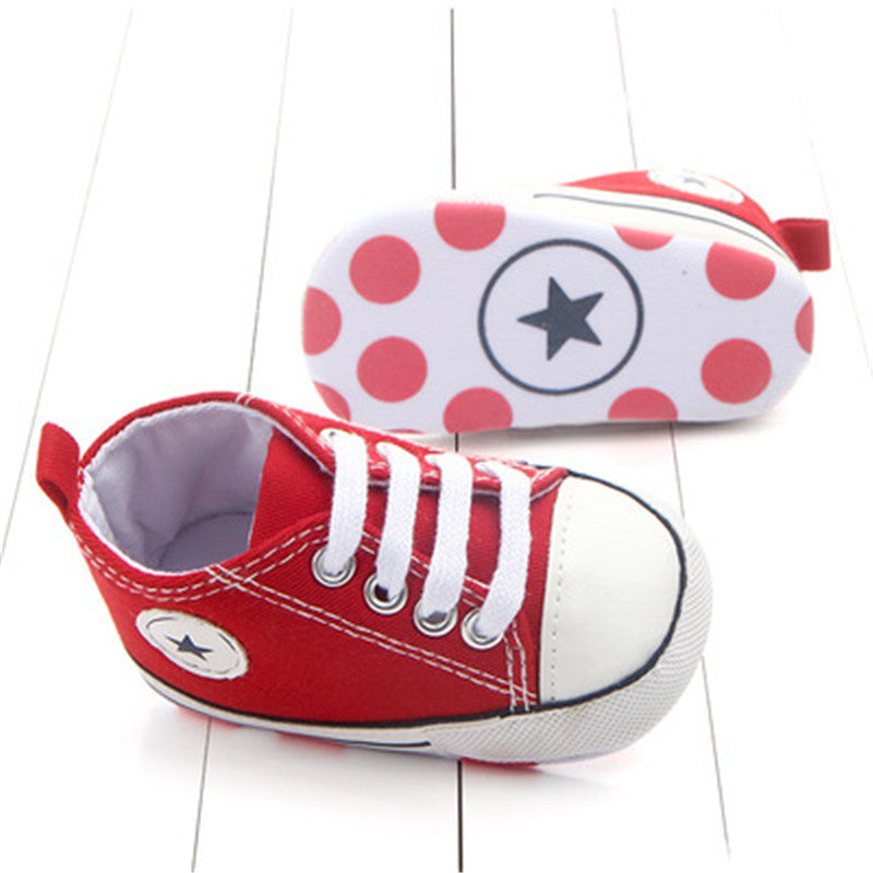 d128d80344 ... New Converse Style Canvas Classic Sports Sneakers Newborn Baby Boys  Girls First Walkers Shoes Infant Toddler ...