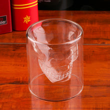 Molded Skull Head Drinking Glass (4 different sizes)