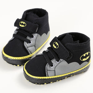 Fresh Cute Baby Toddler Newborn Infant Kids Boys and Girls Cartoon Batman Hermes Stars Canvas First Walkers Sneakers Shoes Footwear