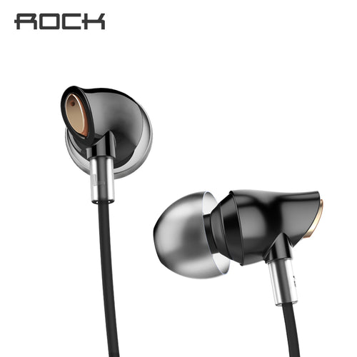Rock Zircon Stereo Earphone In-Ear Earbuds Headset With Micro 3.5mm In Balanced Immersive Bass Earphones