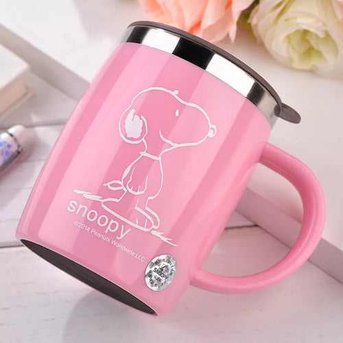 420mL Insulated Snoopy Tumbler Mug (with lid) 1