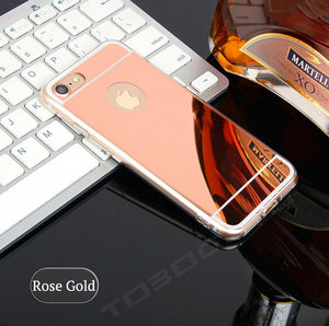 FREE SHIPPING TO USA - Cases Luxury Mirror TPU Capa Soft Silicone Case For iPhone 5 5s SE 6 6s 7 8 Plus X Shell Cover For iPhone 7 Plus i7 i7P