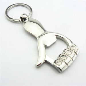Thumbs Up Zinc Alloy Keychain Bottle Opener