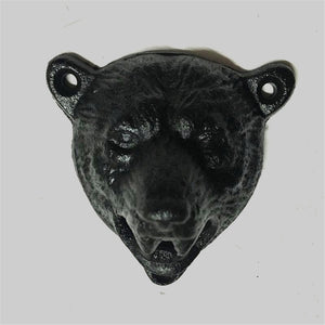 Cast-Iron Wall-Mounted Bear Bottle Opener