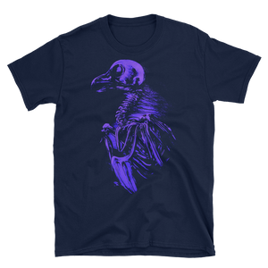 "Purple ""bare bones"" Soft Heavy Cotton Short-Sleeve Unisex T-Shirt"