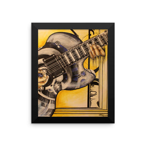 """Guitar"" by Oksana Samarskiy Framed Luster Prints"