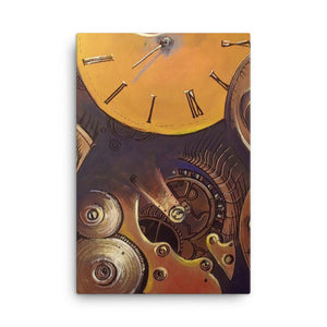"""Broken Time"" by Oksana Samarskiy Canvas Print"