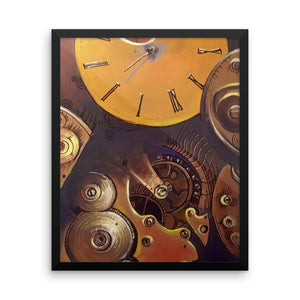 """Broken Time"" by Oksana Samarskiy Framed Luster Print"