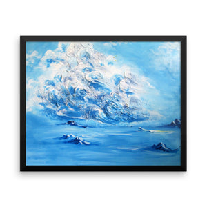 """Salt & Air"" by Oksana Samarskiy Framed Luster Print"