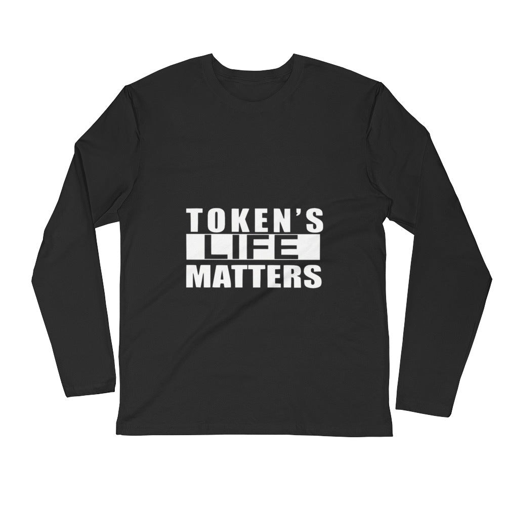 Token's Life Matters South Park Ring-Spun Cotton Men's Long Sleeve Fitted Crew Shirt