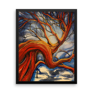 """Patriarch Dreams"" by Oksana Samarskiy Framed Luster Prints"