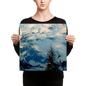 """Blue Elements"" by Oksana Samarskiy Canvas Print"