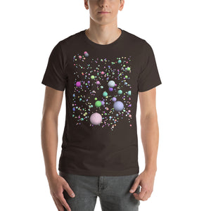 Post Big Bang Creation of the Universe Molecules Atoms Expansion Short-Sleeve Unisex T-Shirt