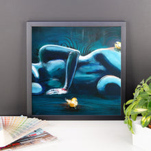 """Yellow Birds"" by Oksana Samarskiy Framed Luster Prints"