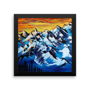 """Mountain Waves"" by Oksana Samarskiy Framed Luster Print"
