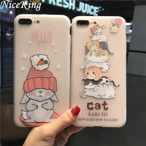 FREE SHIPPING TO USA - For iPhone 6 Case iPhone 7 8 Case Silicone Niceking Cute Cartoon Matte TPU Soft Back Cover Phone Cases For iPhone 6S 6 7 8 Plus