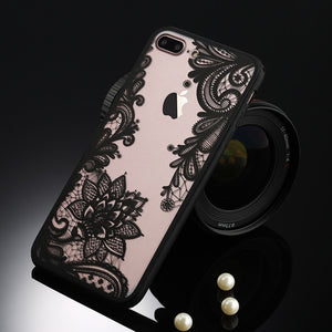 FREE SHIPPING TO USA - Sexy Retro Floral Phone Case For Apple iPhone 7 6 6s 5 5s SE Plus Lace Flower Hard PC+TPU Cases Back Cover Capa For iPhone7Plus