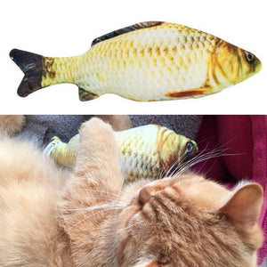Pet Cat Toys Cute Fish Shape Chewing Toy Simulation Stuffed Fish with Catnip Pet Interactive Toy for Cats Kitten 20/30/40/60cm - FREE SHIPPING
