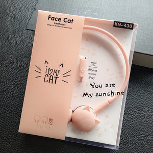 Cute Cat Colored Stereo Pink Headphones Headset Earphones for Samsung Kids Student Birthday Gifts - FREE SHIPPING