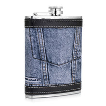 Leather and Stainless Steel Flask with Funnel (Variety of Styles & Sizes Available) 7