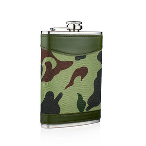 Leather and Stainless Steel Flask with Funnel (Variety of Styles & Sizes Available) 9