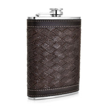 Leather and Stainless Steel Flask with Funnel (Variety of Styles & Sizes Available) 13