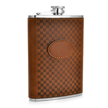 Leather and Stainless Steel Flask with Funnel (Variety of Styles & Sizes Available) 14