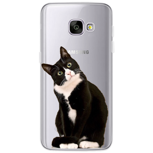 best authentic d5bcd 083b5 Cute Cat and Animal Silicon Phone Cases (Samsung Galaxy S4 S5 S6 S7 Edge S8  Plus A3 A5 2016 2015 2017)