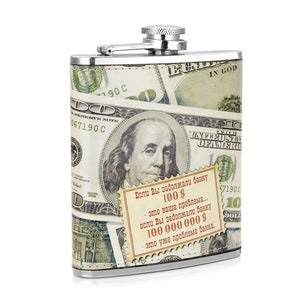 Leather and Stainless Steel Flask with Funnel (Variety of Styles & Sizes Available) 11