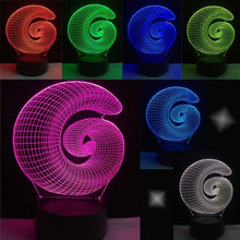 3D Color-Changing LED Lamp w/ Remote - Golden Ratio Fibonacci Sequence Spiral