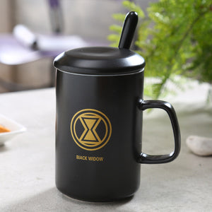 Modern Marvel Mugs with Spoon & Lid (Batman, Spiderman, Superman, Captain America, & More) 8