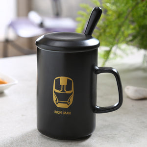Modern Marvel Mugs with Spoon & Lid (Batman, Spiderman, Superman, Captain America, & More) 10