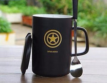 Modern Marvel Mugs with Spoon & Lid (Batman, Spiderman, Superman, Captain America, & More)6