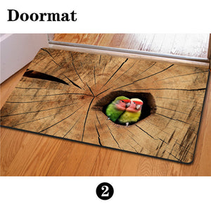 3D Non-Slip Animal & Nature Felt Mat 22