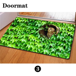 3D Non-Slip Animal & Nature Felt Mat 15