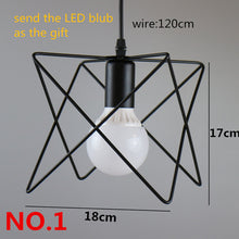 Retro Vintage LED Pendant Light Cage Fixtures, comes with a Bulb (24 styles)