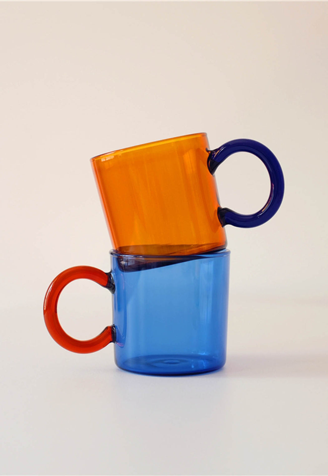 Colourful Glass Coffee Cup